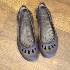 Brown Kaydee Crocs Sz 6